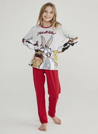 Penti Kız Çocuk Renkli Teen Looney 2'li Pijama Takım PNAC22Y120SK Siyah